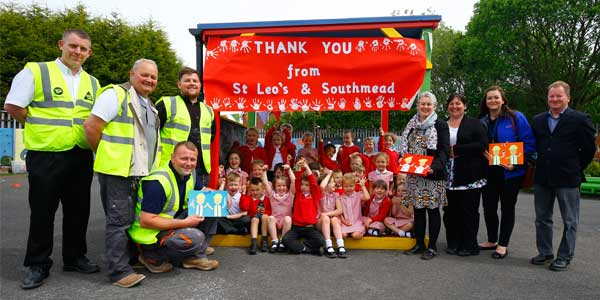 St Leo's and Southmead Catholic Primary School celebrate their new school playground