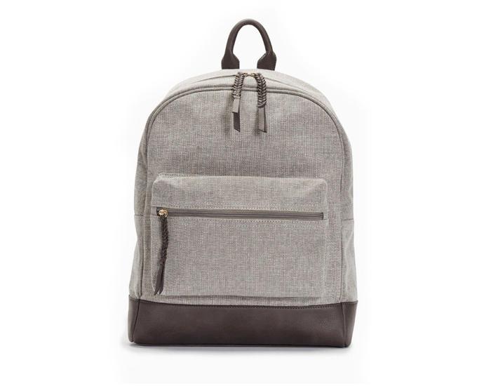Grey canvas rucksack