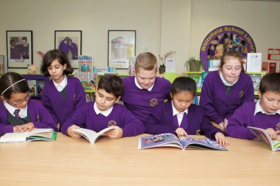 Pupils from Whitefield Primary School make a start on their shortlisted books